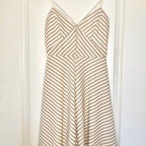 Nude Striped Dress